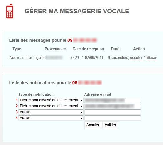 ecouter message telephone fixe free