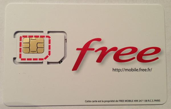 format carte sim free Photos de la nouvelle carte SIM Free Mobile   Free Mobile iPhone