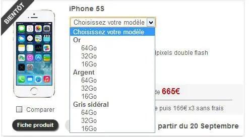 iphone 5s chez free mobile les prix d voil s. Black Bedroom Furniture Sets. Home Design Ideas
