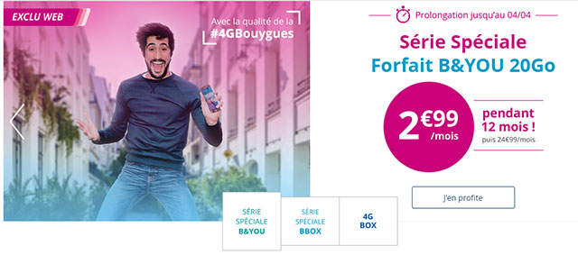 bouygues telecom forfait mobile illimit 20 go 4g. Black Bedroom Furniture Sets. Home Design Ideas