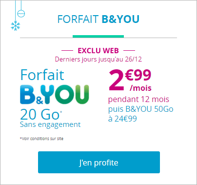 forfait illimit 20 go 2 99 bouygues telecom prolonge encore. Black Bedroom Furniture Sets. Home Design Ideas