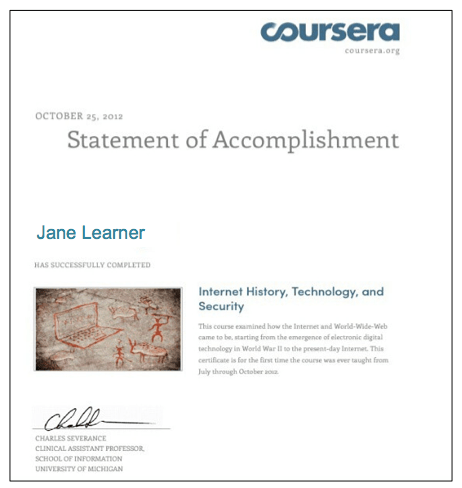 Where to get free online courses with certificate of completion statement of accomplishment coursera yadclub Images