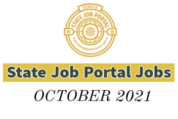 State Job Portal Vacancies: October 2021