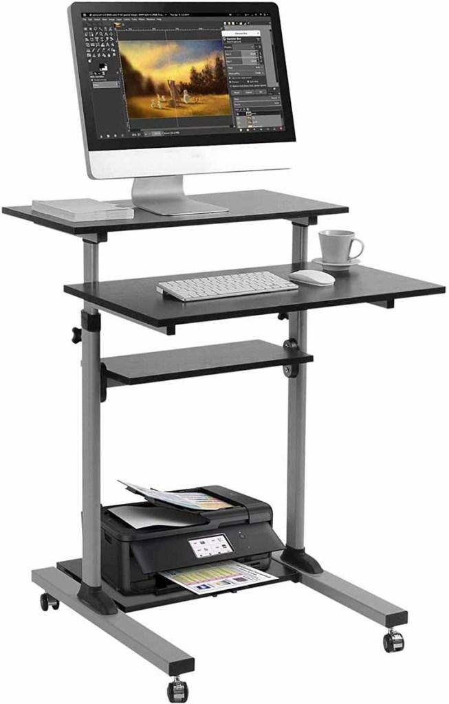Mobile Standing Desk Height Adjustable
