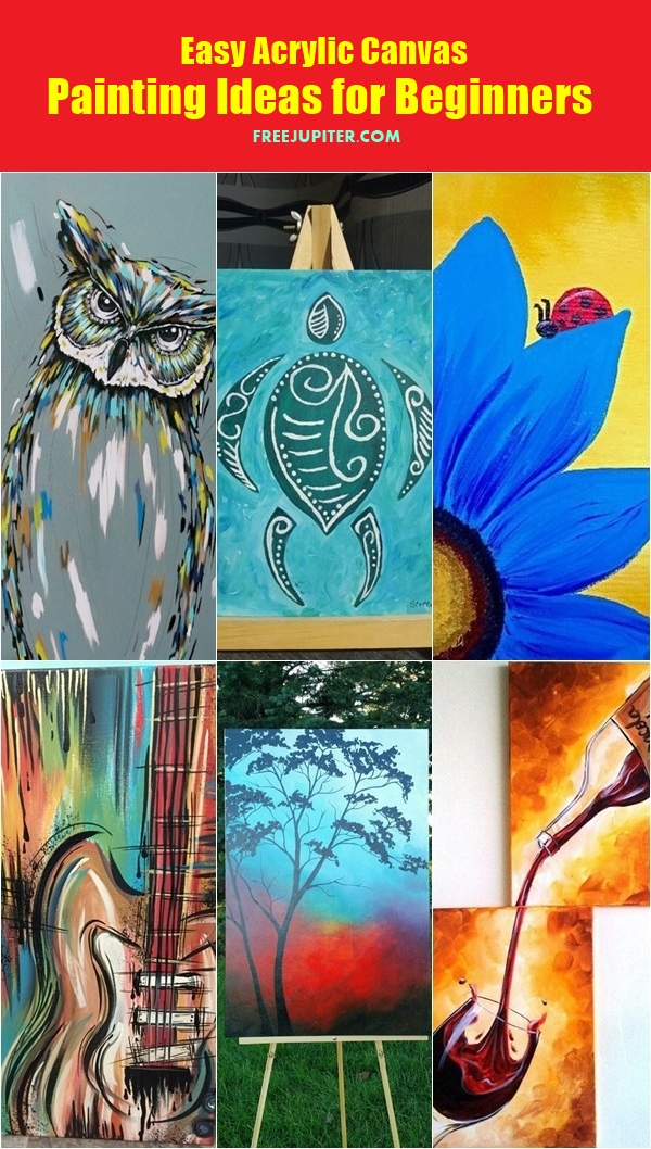 Image Result For Acrylic Paintings Ideas For Beginners