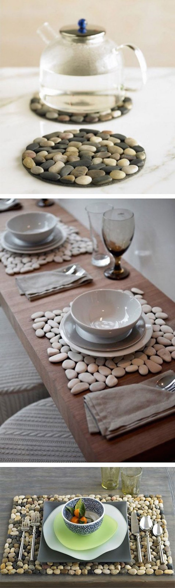 10 Creative DIY Home Decor Ideas With Pebbles And River Rocks on Rock Decorating Ideas  id=40982