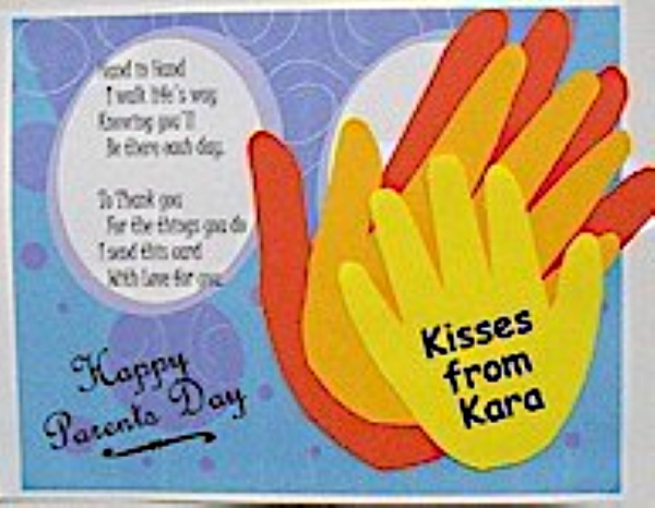 Handprint Parents' Day Card