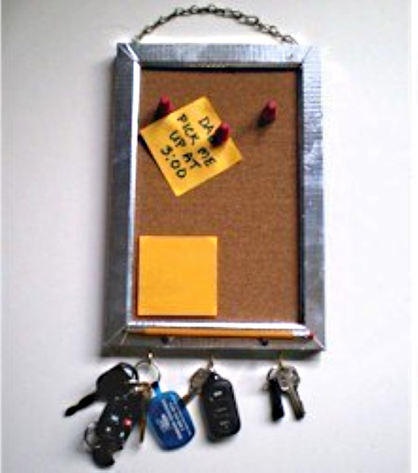 Bulletin board and key chain to make for Father's Day