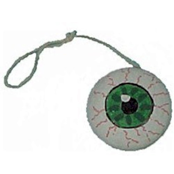 Yo Yo decorated with paint to look like an eyeball.