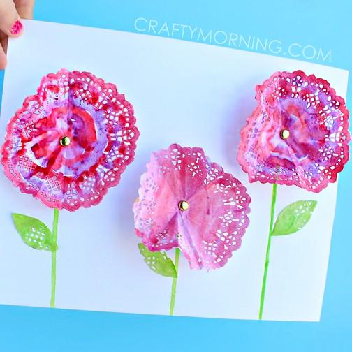 Doily Spring Flowers