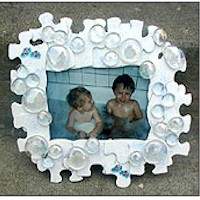 Recycled Puzzle Bubble Frame