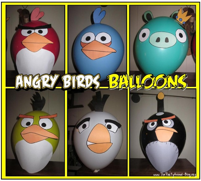 Angry Birds Party Balloon Decals