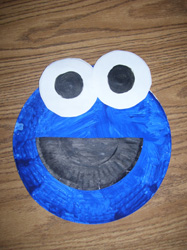 Paper Plate Cookie Monster