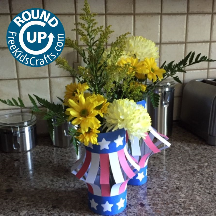 Round up of easy crafts with a patriotic theme
