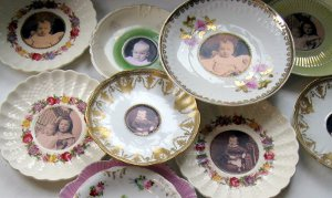 Image of Antique Saucer Frames