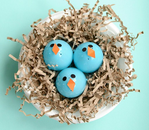Image of Baby Bluebirds In A Nest Craft