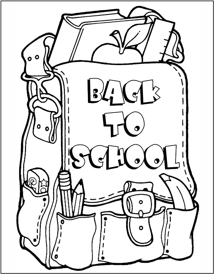 Image of Back To School Coloring Page