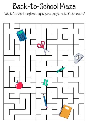 Image of Back To School Maze