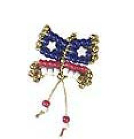 Bead and Safety Pin Butterfly