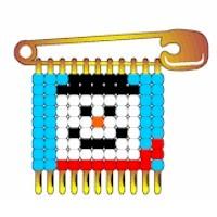 Beaded Snowman Pin