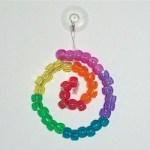 Image of Rainbow Beaded Suncatcher