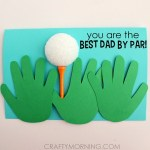 Image of Fathers Day Footprint Card