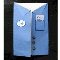Image of Fathers Day Uniform Shirt Card