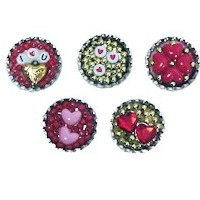 Image of Bottle Cap Valentine Pins