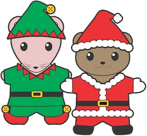 Image of Printable Christmas Buddy Paper Dolls