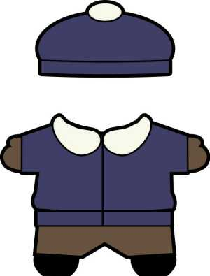 Buddies winter paper doll clothes boy