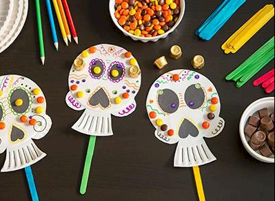 Day of the Dead Paper Plate Craft