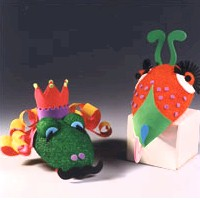 Image of Capering Critters Hand Puppets