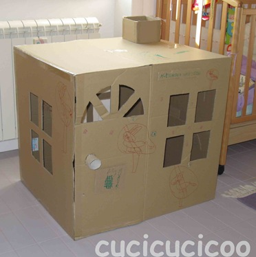 Image of Cardboard Box House