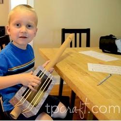 Cardboard Tube Guitar