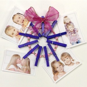 Clothespin Wreath Photo Holder