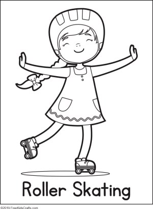 coloring pages phycial activites - photo#13