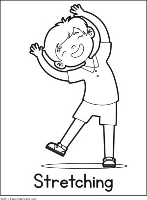 physical activities coloring pages - photo#30