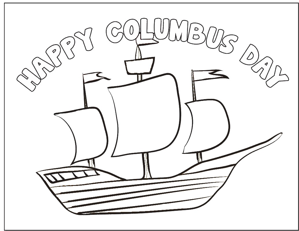 Columbus day coloring page for Columbus coloring page