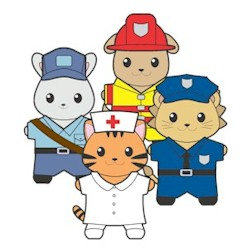 graphic about Memory Community Helpers Free to Printable Coloring Pages called Printable Local Helpers Pals Paper Dolls