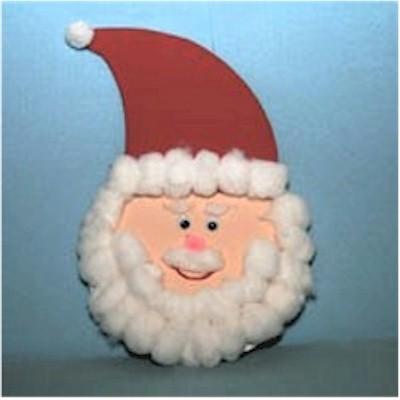 Image of Cotton Ball Santa