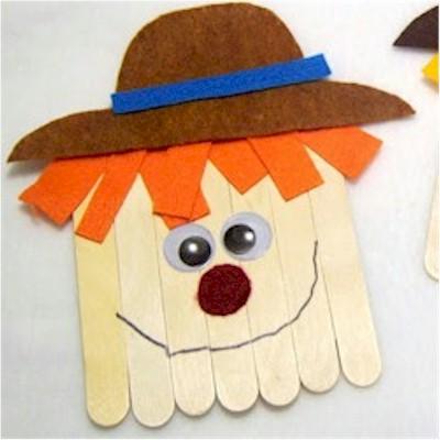Craftstick Scarecrow