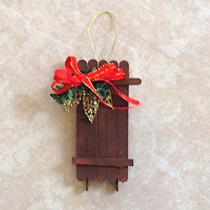 Make A Craftstick Sled Ornament