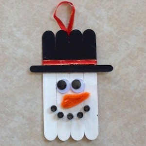 Image of Craft Stick Snowman