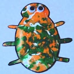 Image of Melted Crayon Beetle Window Hanger