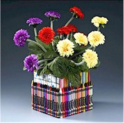 Crayon Flower Holder
