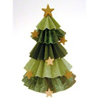Crimped Paper Tree