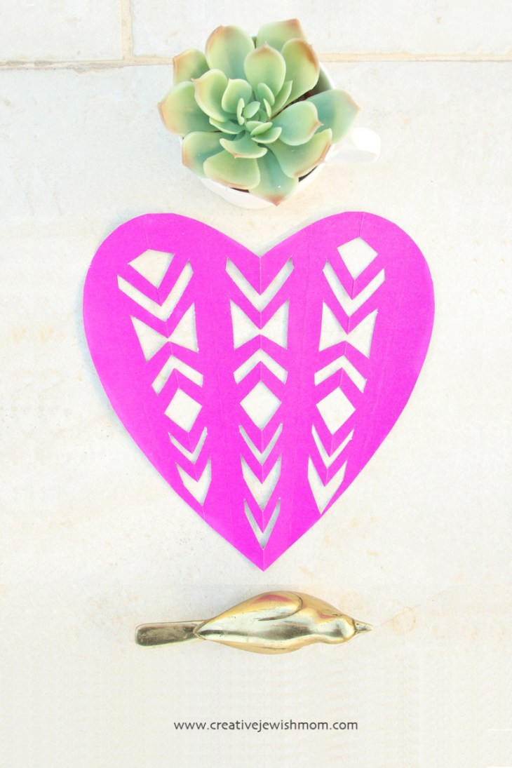 Fancy Cut Paper Valentine