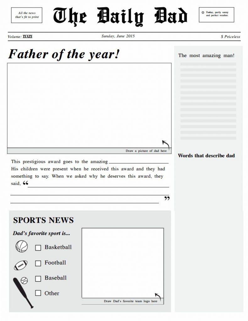 Image of Headliner Dad Newspaper