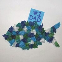 Tissue Paper Fish for Dad