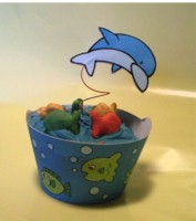 Dolphin Cupcake Decorations